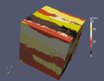 Uniaxial solidification - 3D view